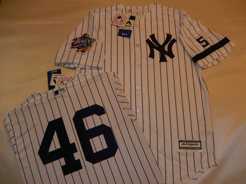 1999 New York Yankees World Series Jersey ANDY PETTITTE WHITE P/S