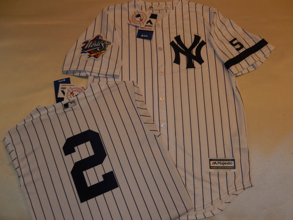 1999 New York Yankees World Series Jersey DEREK JETER WHITE P/S