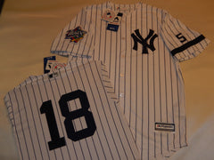 1999 New York Yankees World Series Jersey SCOTT BROSIUS WHITE P/S