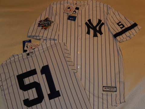 1999 New York Yankees World Series Jersey BERNIE WILLIAMS WHITE P/S