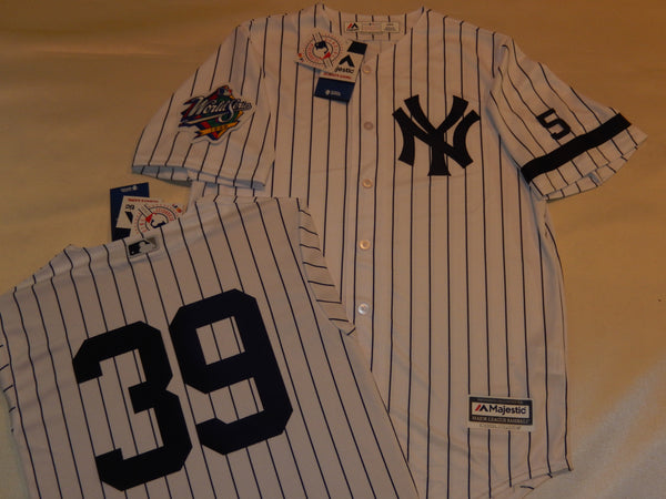 1999 New York Yankees World Series Jersey DARRYL STRAWBERRY WHITE P/S