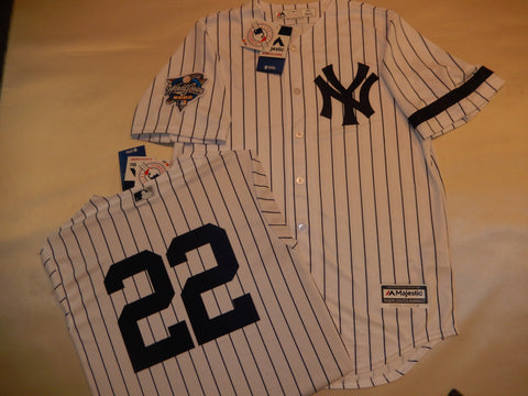 2000 New York Yankees World Series ROGER CLEMENS Jersey WHITE P/S