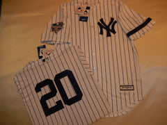 2000 New York Yankees World Series JORGE POSADA Jersey WHITE P/S