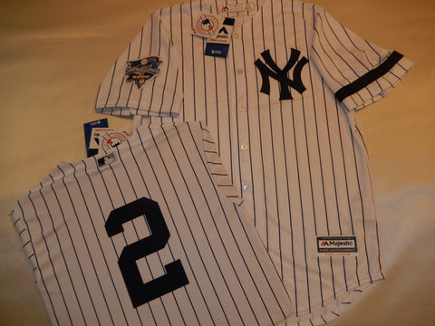 2000 New York Yankees World Series DEREK JETER Jersey WHITE P/S