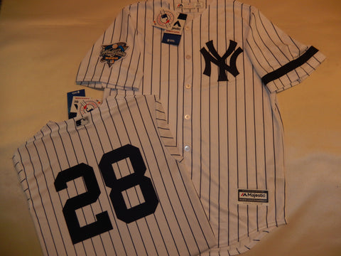 2000 New York Yankees World Series DAVID JUSTICE Jersey WHITE P/S