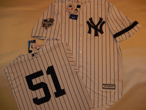 2000 New York Yankees World Series BERNIE WILLIAMS Jersey WHITE P/S