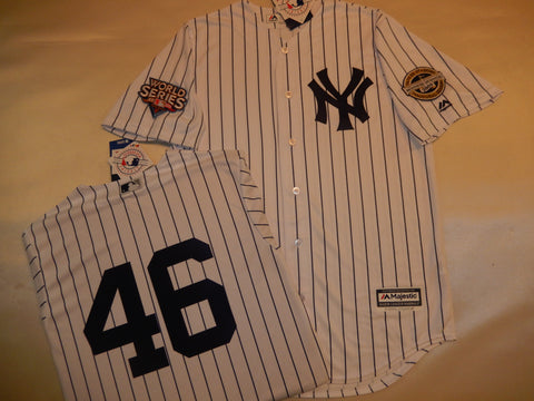 2009 New York Yankees World Series Jersey ANDY PETTITTE WHITE P/S