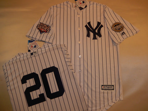 2009 New York Yankees World Series Jersey JORGE POSADA WHITE P/S