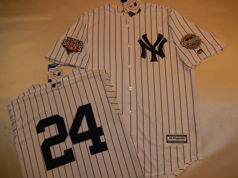 2009 New York Yankees World Series Jersey ROBINSON CANO WHITE P/S