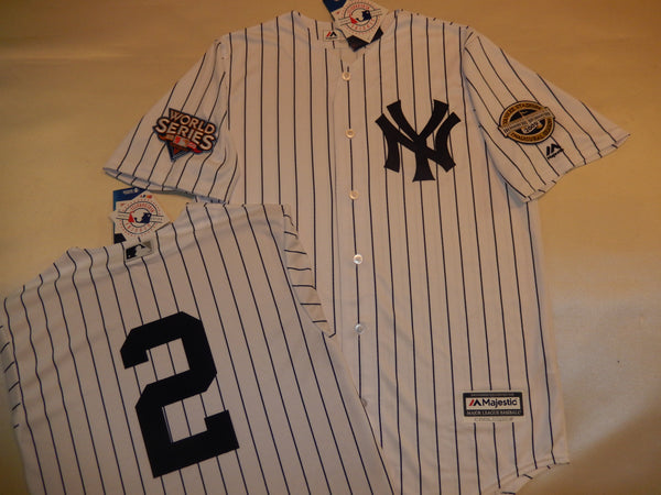 2009 New York Yankees World Series Jersey DEREK JETER WHITE P/S