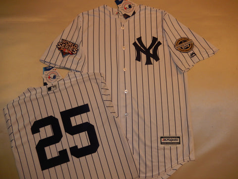 2009 New York Yankees World Series Jersey MARK TEIXEIRA WHITE P/S