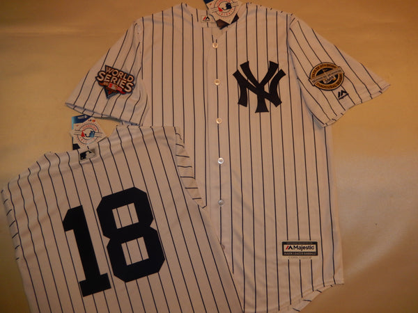 2009 New York Yankees World Series Jersey JOHNNY DAMON WHITE P/S