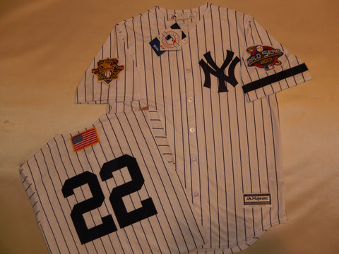 2001 New York Yankees World Series Jersey ROGER CLEMENS WHITE P/S
