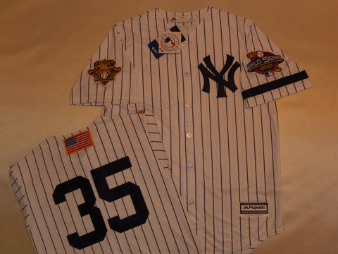2001 New York Yankees World Series Jersey MIKE MUSSINA WHITE P/S