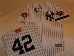 2001 New York Yankees World Series Jersey MARIANO RIVERA WHITE P/S