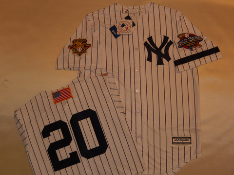 2001 New York Yankees World Series Jersey JORGE POSADA WHITE P/S