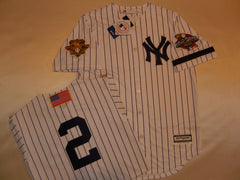 2001 New York Yankees World Series Jersey DEREK JETER WHITE P/S
