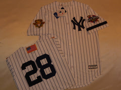 2001 New York Yankees World Series Jersey DAVID JUSTICE WHITE P/S