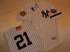 2001 New York Yankees World Series Jersey PAUL O'NEILL WHITE P/S