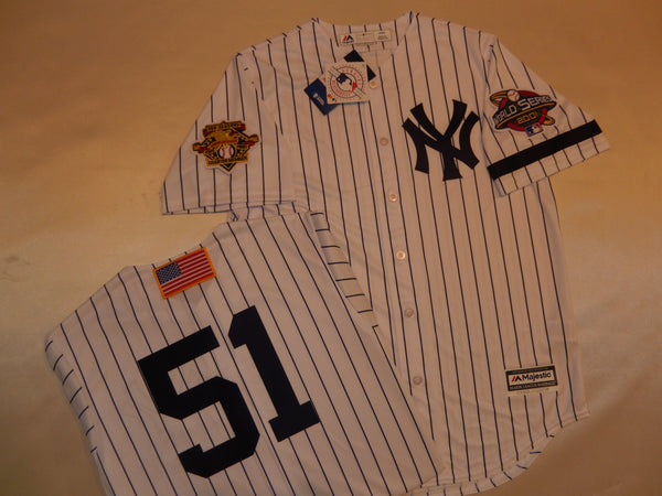 2001 New York Yankees World Series Jersey BERNIE WILLIAMS WHITE P/S
