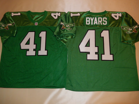Philadelphia Eagles KEITH BYARS Sewn Throwback Vintage Football Jersey KELLY GREEN