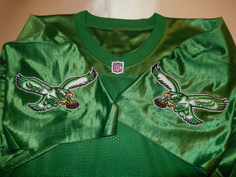Philadelphia Eagles BYRON EVANS Sewn Throwback Vintage Football Jersey KELLY GREEN