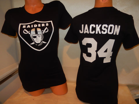 WOMENS Oakland Raiders BO JACKSON Football Eligible Receiver Shirt
