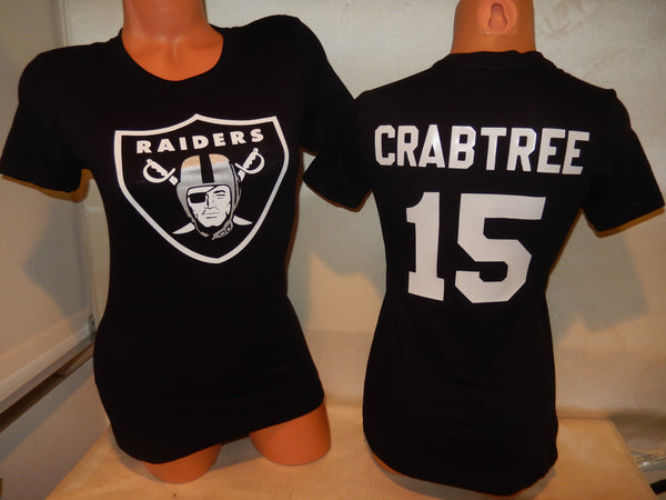 WOMENS Oakland Raiders MICHAEL CRABTREE Football Eligible Receiver Shirt