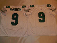 Philadelphia Eagles JIM McMAHON Sewn Throwback Vintage Football Jersey WHITE