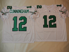 Philadelphia Eagles RANDELL CUNNINGHAM Sewn Throwback Vintage Football Jersey WHITE