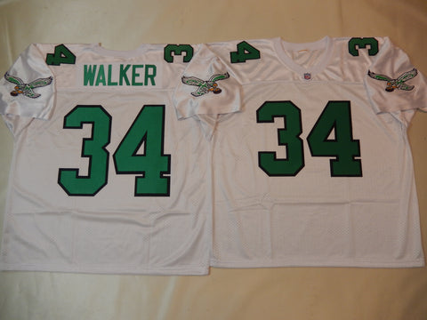 Philadelphia Eagles HERSHEL WALKER Sewn Throwback Vintage Football Jersey WHITE