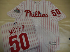 Philadelphia Phillies JAMIE MOYER 2008 World Series CHAMPIONS Baseball Jersey WHITE P/S