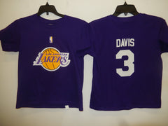 BOYS Youth Los Angeles Lakers ANTHONY DAVIS Basketball Shirt PURPLE