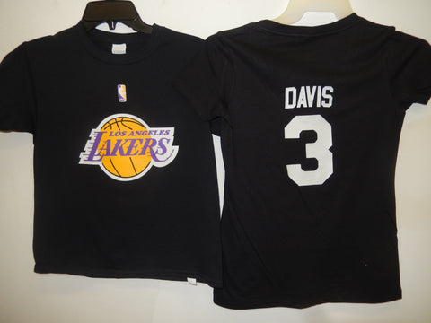 BOYS Youth Los Angeles Lakers ANTHONY DAVIS Basketball Shirt BLACK