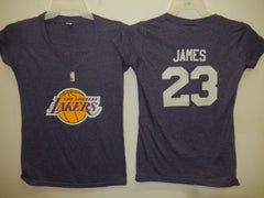 Womens Los Angeles Lakers LEBRON JAMES Basketball Shirt PURPLE