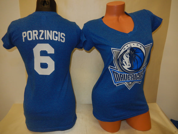 Womens Dallas Mavericks DIRK NOWITZKI Basketball Shirt BLUE