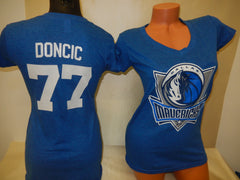 Womens Dallas Mavericks LUKA DONCIC Basketball Shirt BLUE