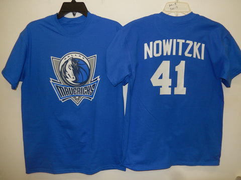 Mens Dallas Mavericks DIRK NOWITZKI Basketball Shirt BLUE