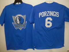 Mens Dallas Mavericks KRISTAPS PORZINGIS Basketball Shirt BLUE