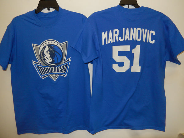 Mens Dallas Mavericks BOBAN MARJANOVIC Basketball Shirt BLUE