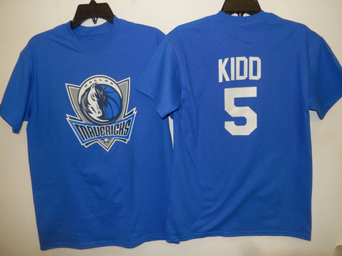 Mens Dallas Mavericks JASON KIDD Basketball Shirt BLUE