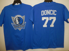 Mens Dallas Mavericks LUKA DONCIC Basketball Shirt BLUE