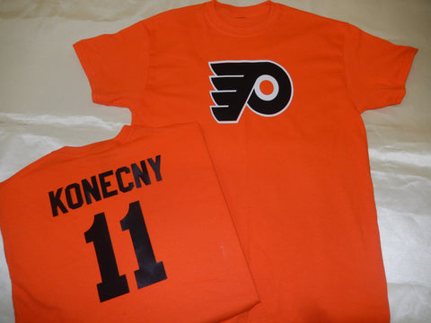 Philadelphia Flyers TRAVIS KONECNY Hockey Jersey Shirt ORANGE