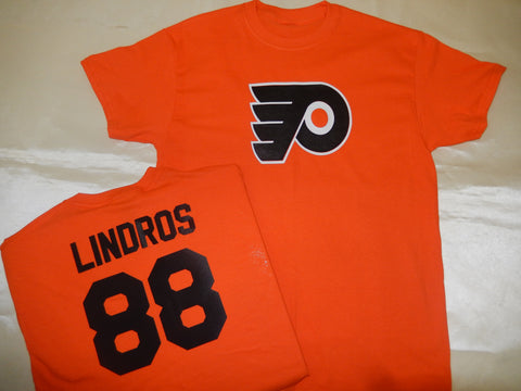 Philadelphia Flyers ERIC LINDROS Hockey Jersey Shirt ORANGE