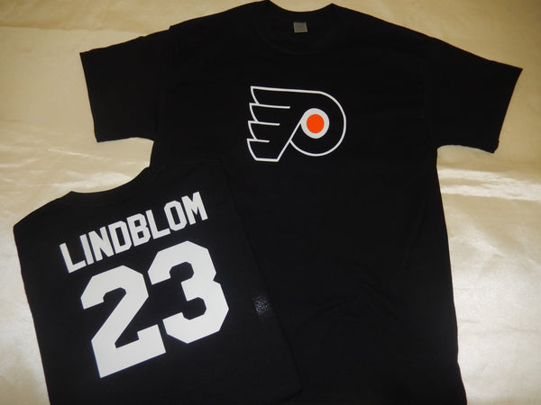 Philadelphia Flyers OSKAR LINDBLOM Hockey Jersey Shirt BLACK