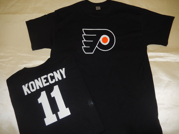 Philadelphia Flyers TRAVIS KONECNY Hockey Jersey Shirt BLACK