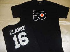 Philadelphia Flyers BOBBY CLARKE Hockey Jersey Shirt BLACK