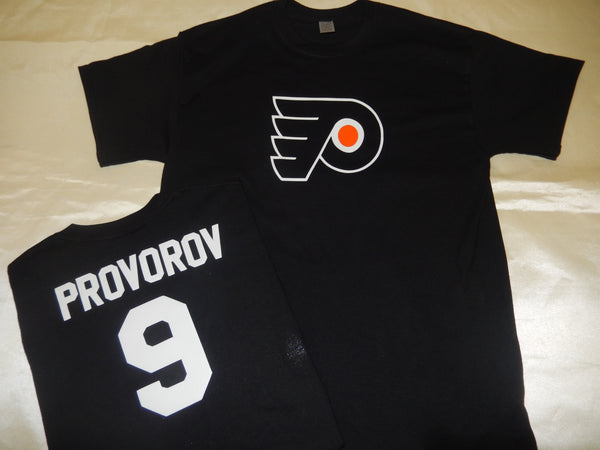 Philadelphia Flyers IVAN PROVOROV Hockey Jersey Shirt BLACK