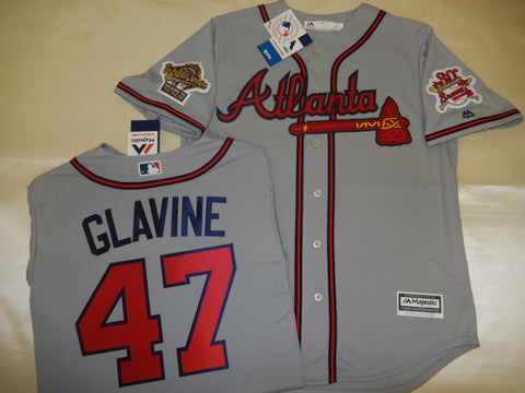1995 World Series Atlanta Braves TOM GLAVINE Gray Jersey