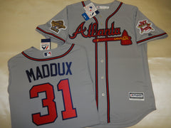 1995 World Series Atlanta Braves GREG MADDUX Gray Jersey
